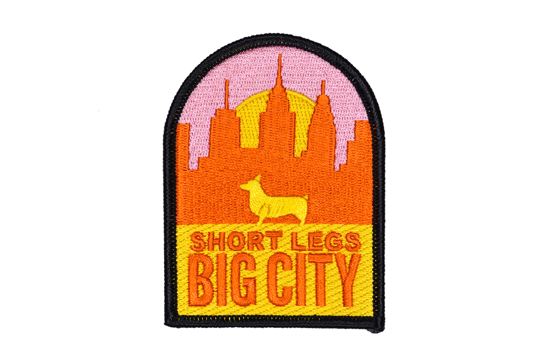 SHORT LEGS BIG CITY Embroidered Patch