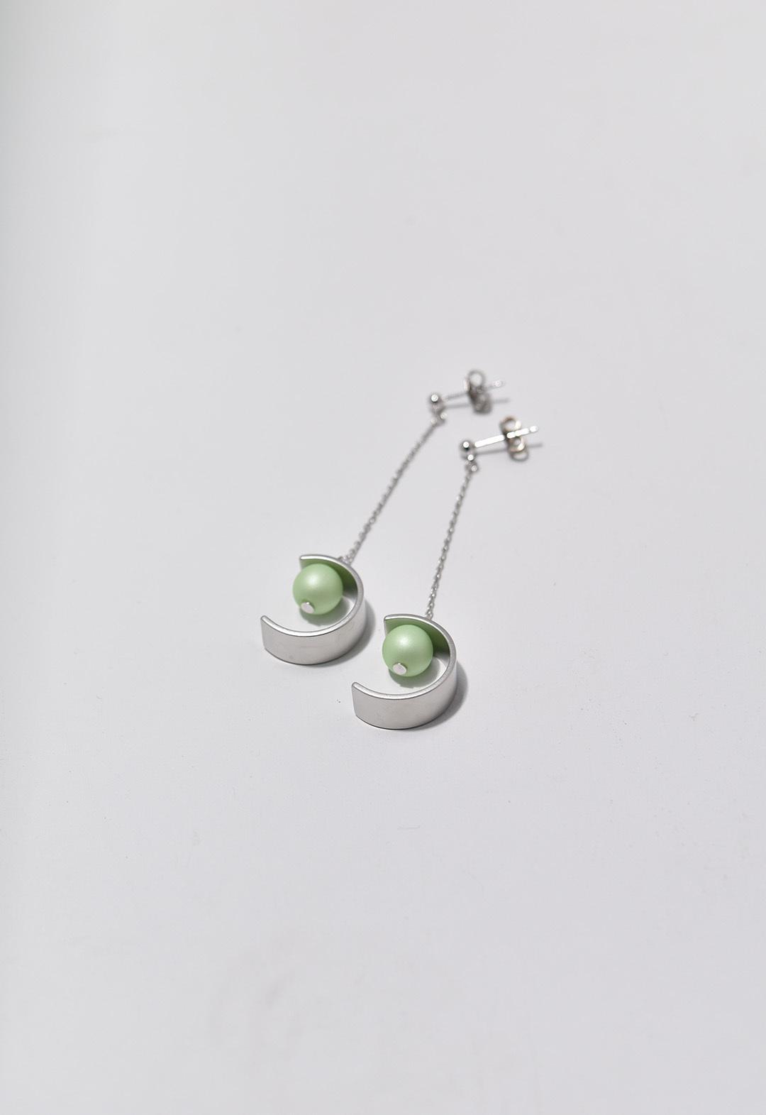 C-frame pierce Silver/Green