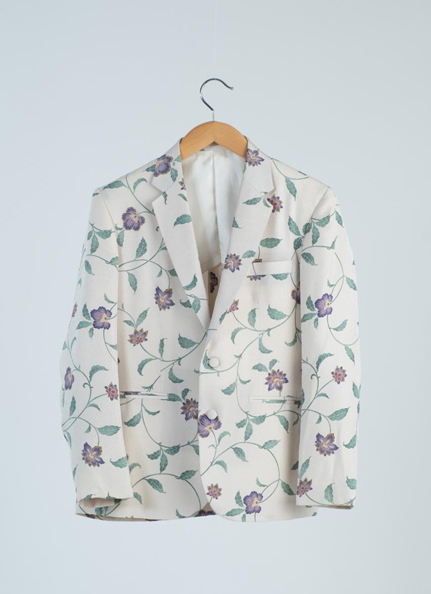 更紗模様 ジャケット 着物 正絹製