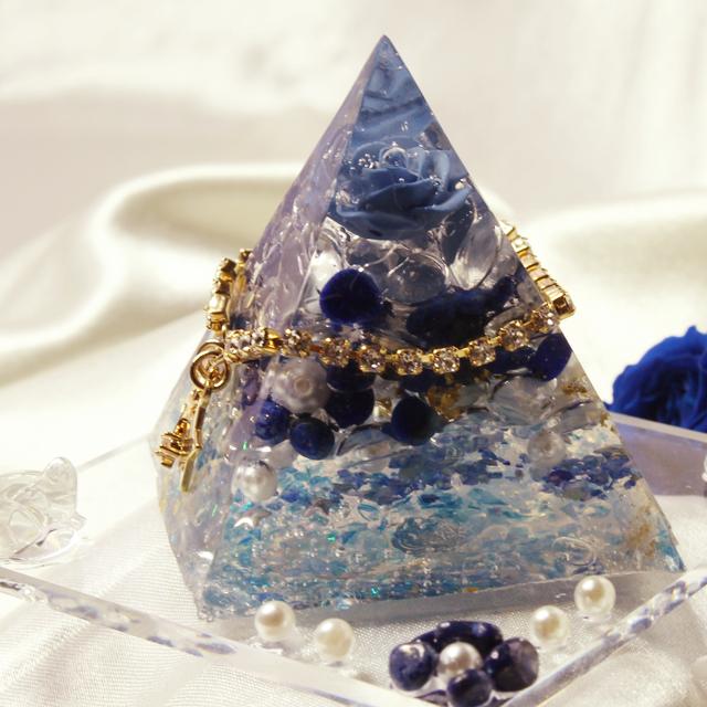 ドリームピラミッド(ラピスラズリ ブルーローズ) - 画像2