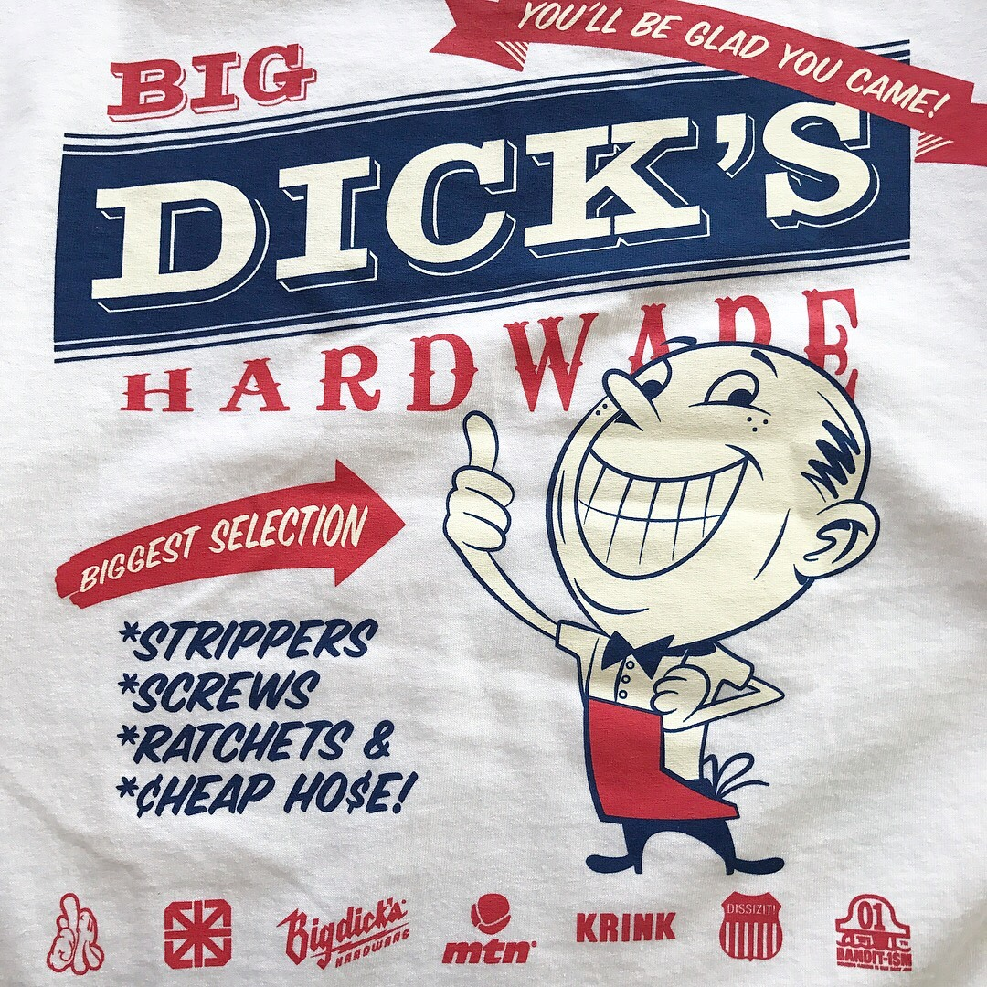 BIG DICK'S HARDWARE / Glad U Come Tee - White