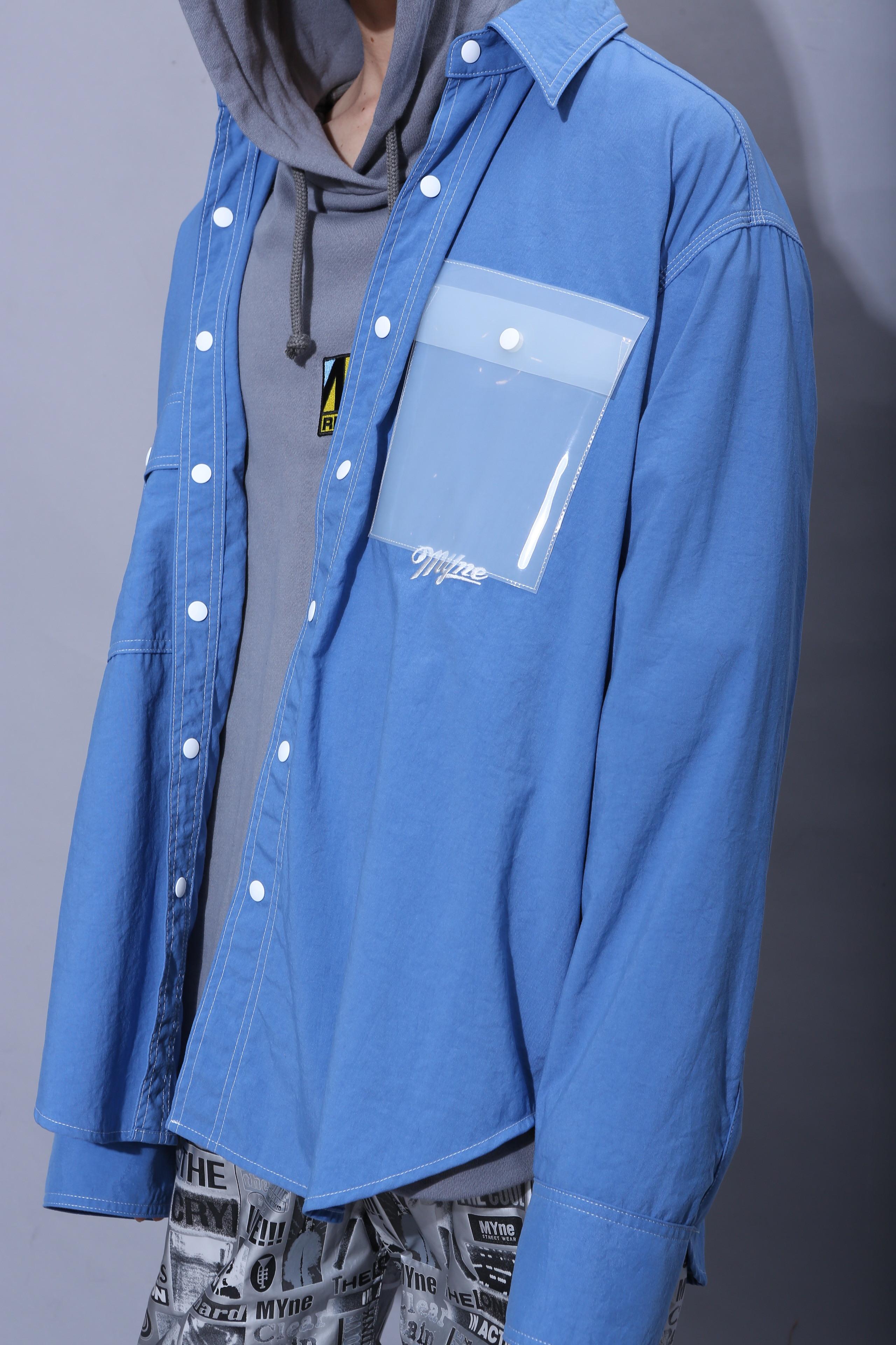 CLEAR POCKET SHIRT / BLUE - 画像2