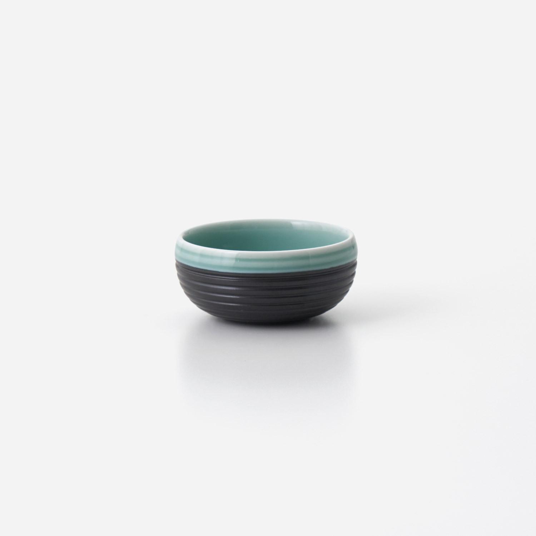 青磁黒彩 丸小鉢