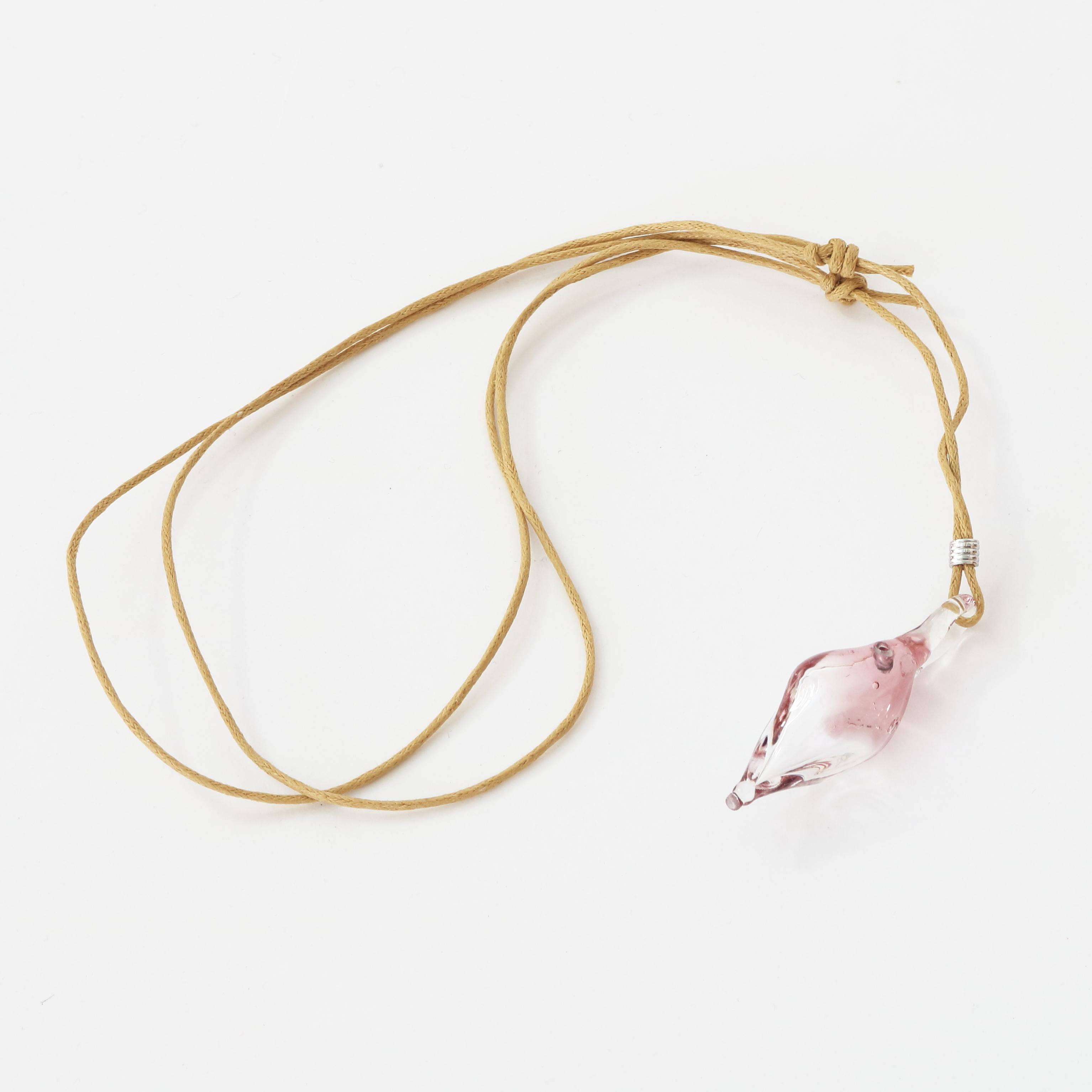 硝子のアロマペンダント <pink clear 1>