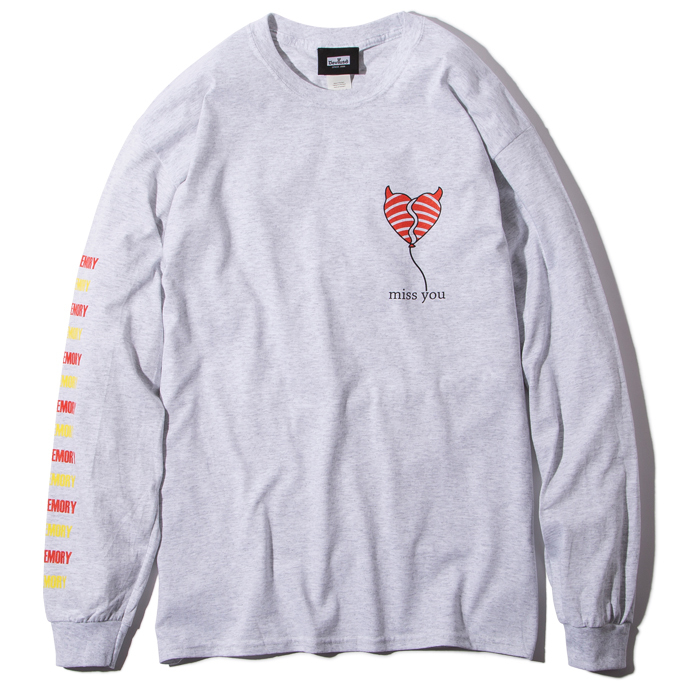 Deviluse(デビルユース) | miss you L/S T-shirts(Ash Gray)