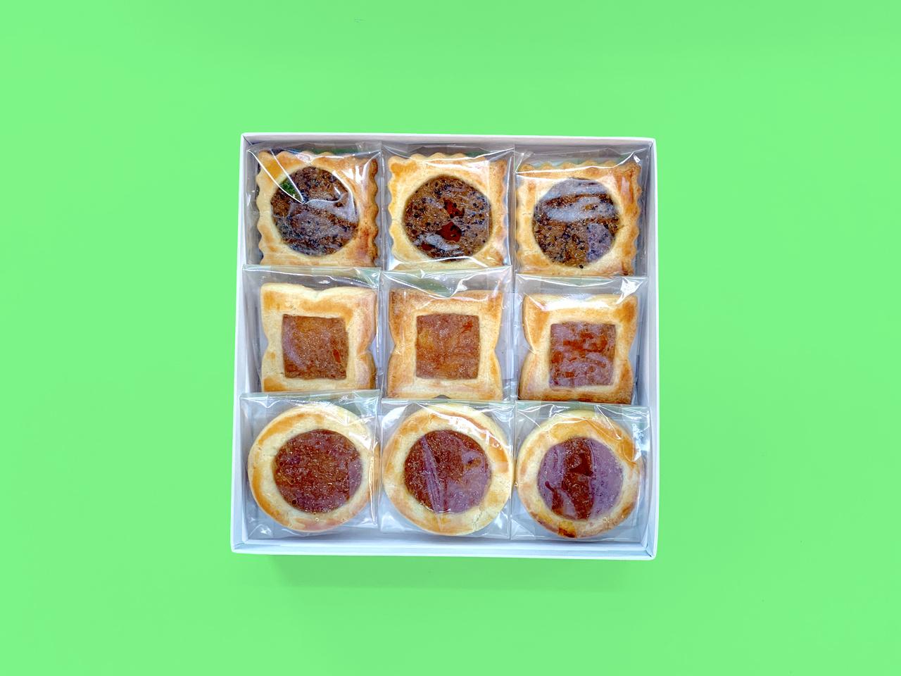 【1/26発送分予約】空家スイーツ(ロシアケーキ)9個入り1箱(キウイ/ゆず/かき)