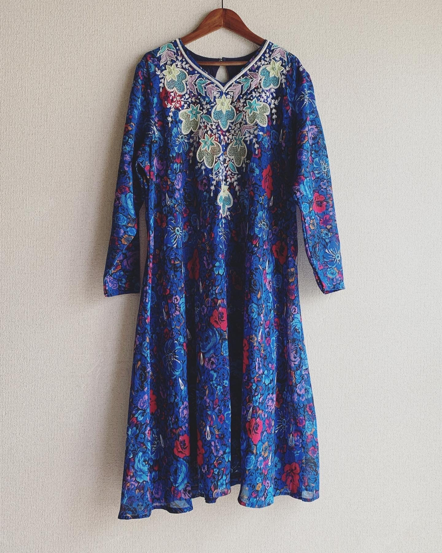 【SALE】vintage embroidery onepiece