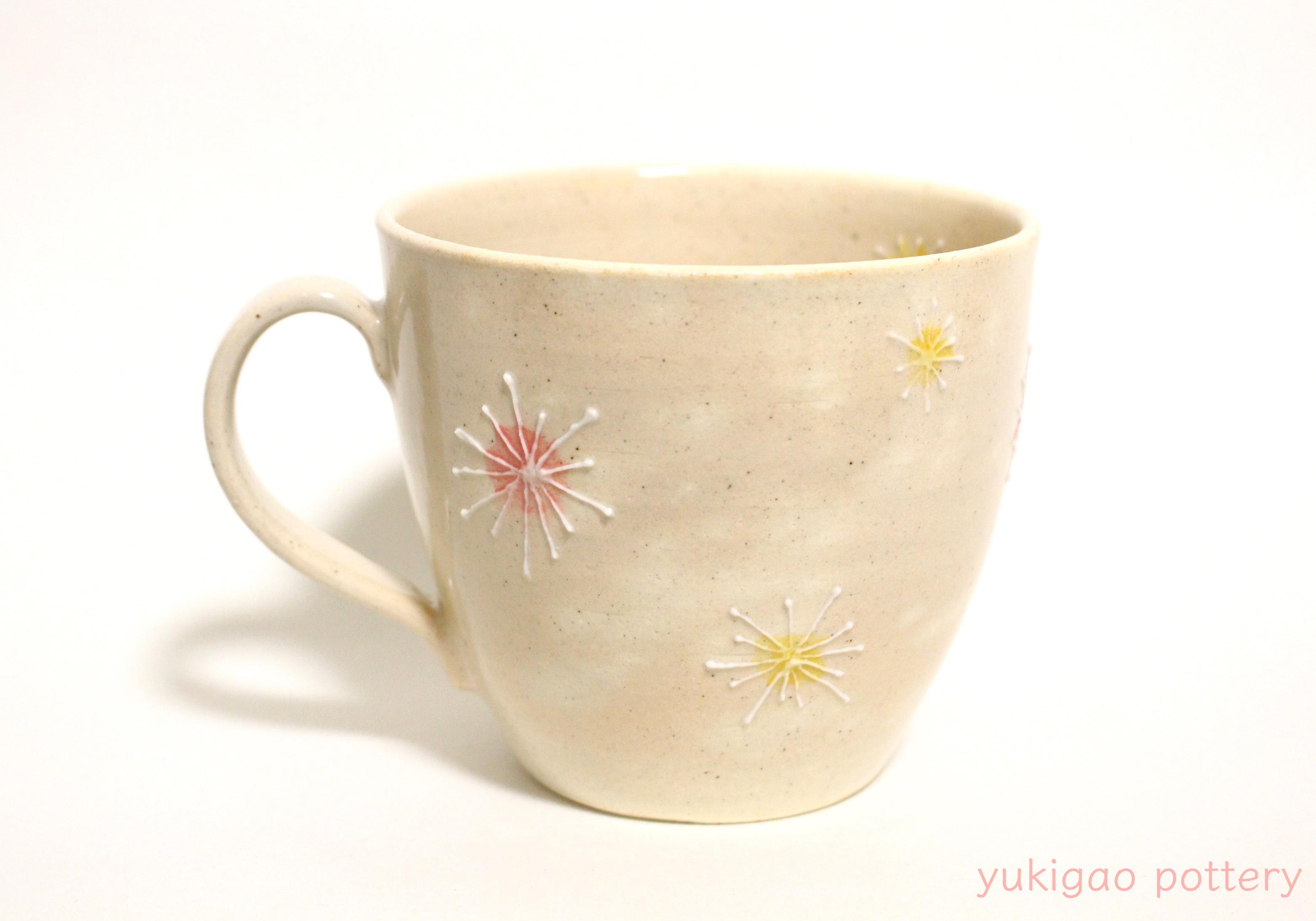 【イッチン花模様】マグカップ