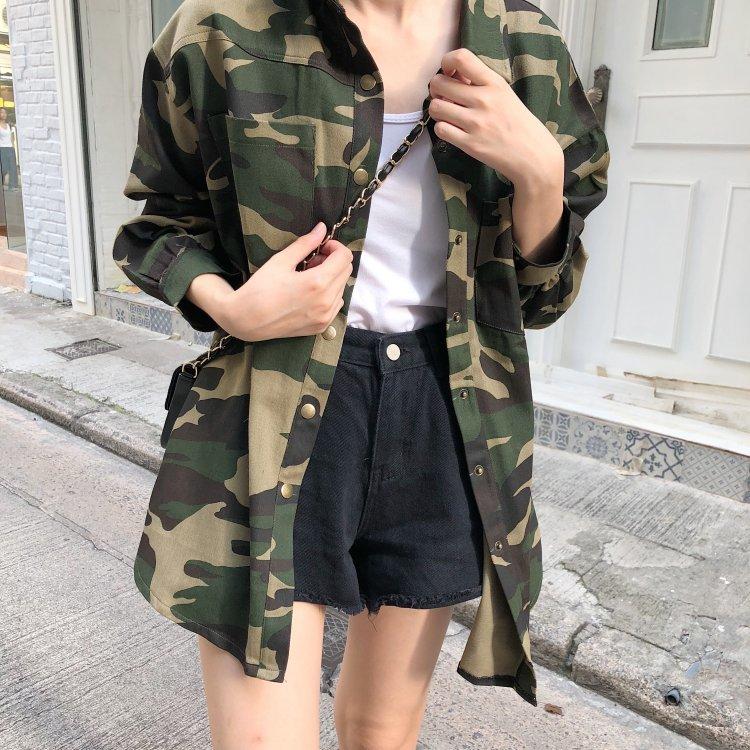 カモフラ柄 カジュアル  ジャケット 韓国ファッション