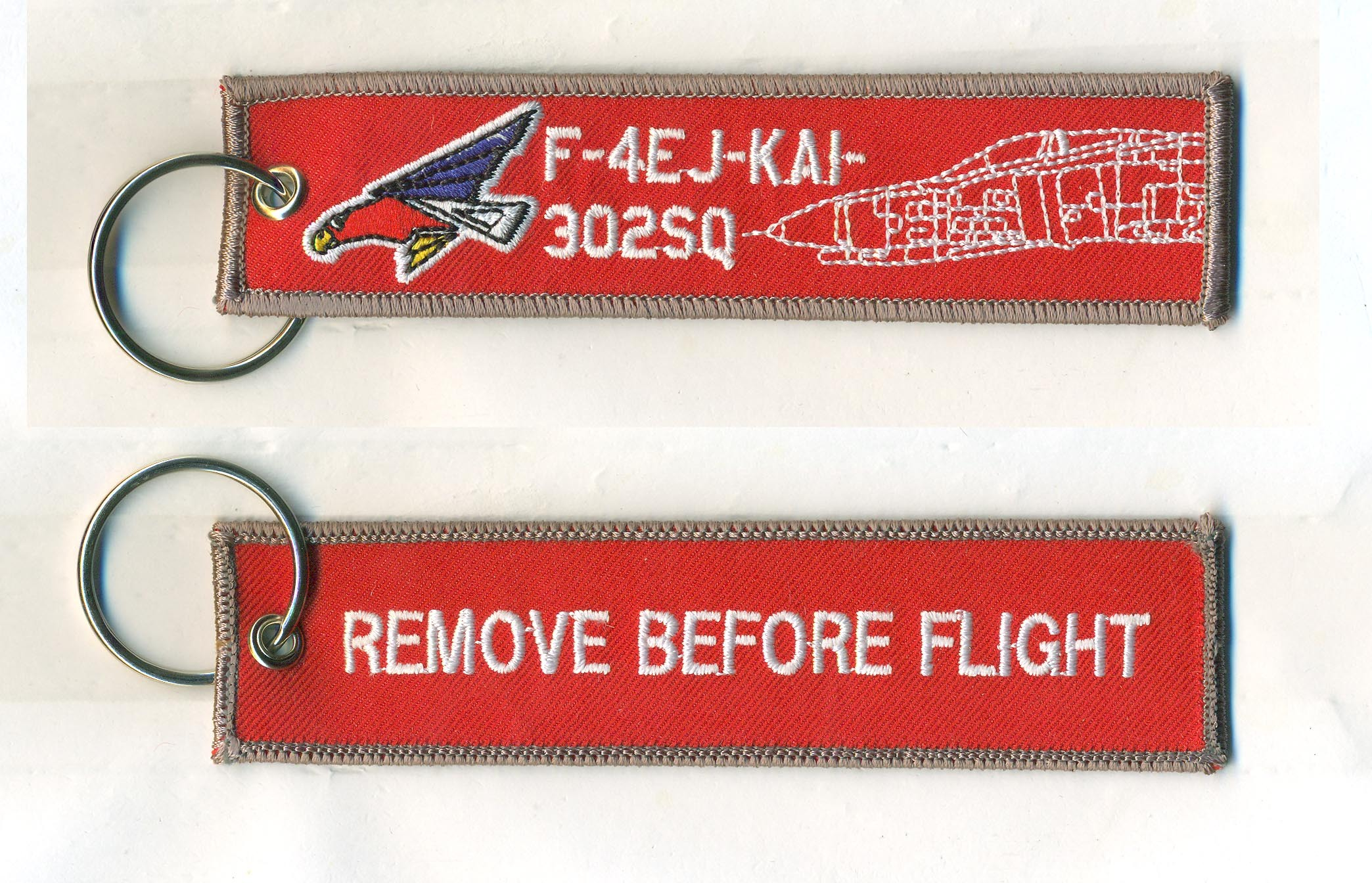 REMOVE BEFORE FLIGHTキーホルダー/F-4EJ-KAI-302SQ