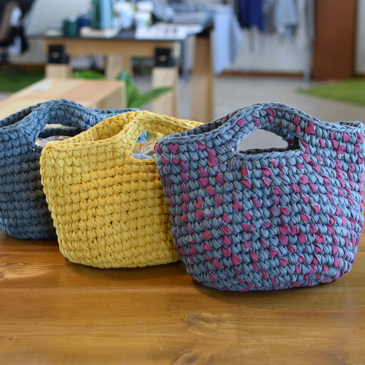 松野屋 ネパールさき編みバッグ