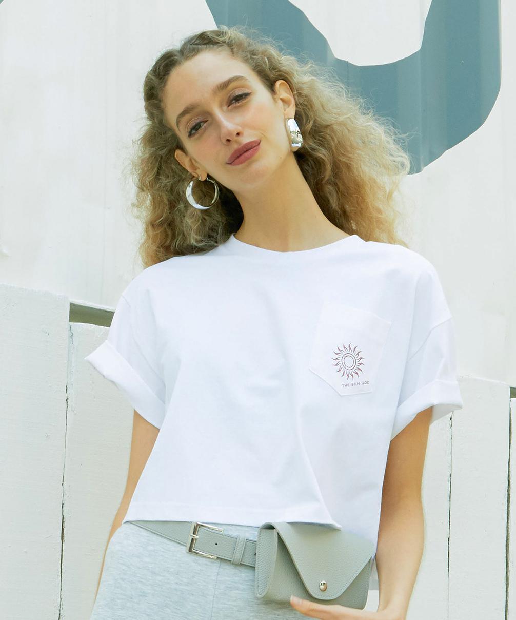 バックロゴショートTシャツ