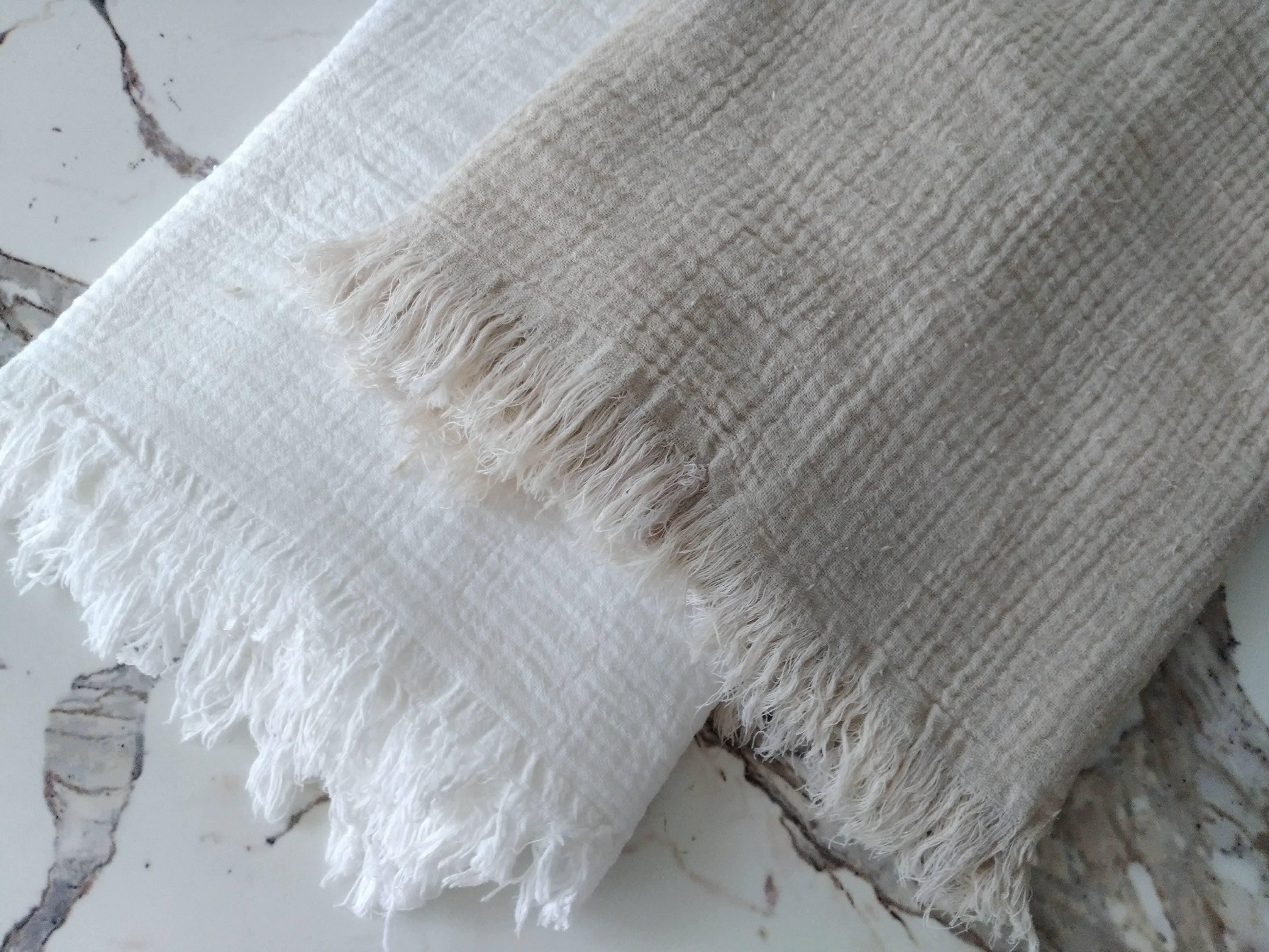 Organic Cotton100% Peshtemal from Buldan Double sided ペシュテマル ブルダンオーガニックコットン100% 二層織り