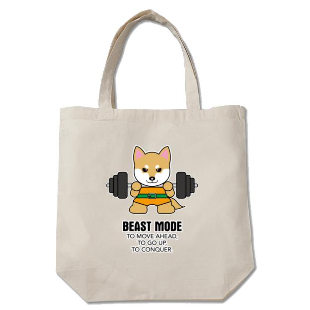 【BEASTMODE】トートバッグ 柴犬