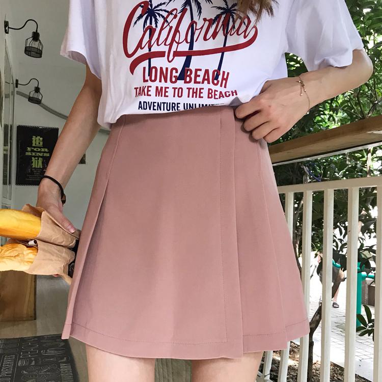 プリーツ台形スカート