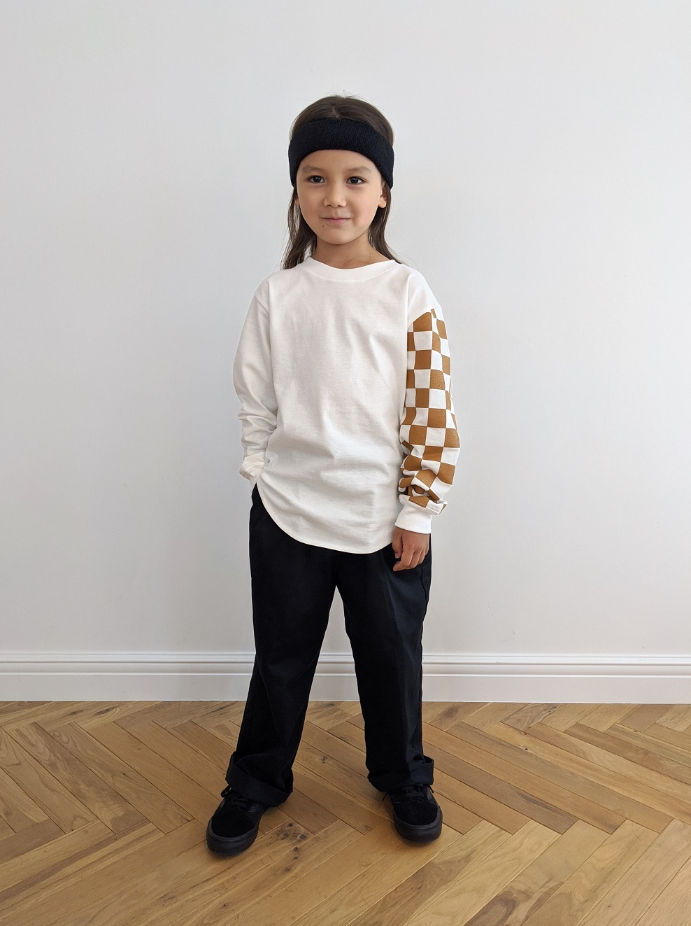 Kids Checkered Long Tee