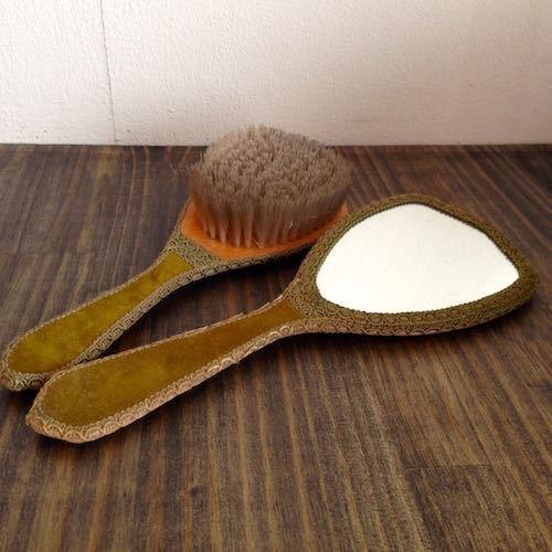 Hand Mirror & Brush