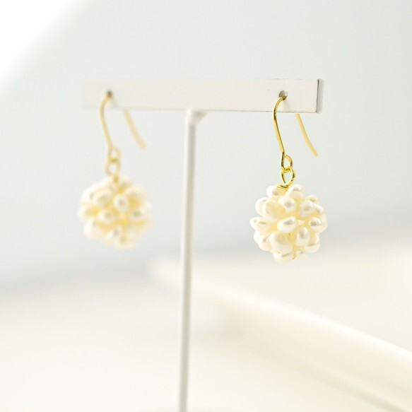 water pearl ball Pierces/earrings