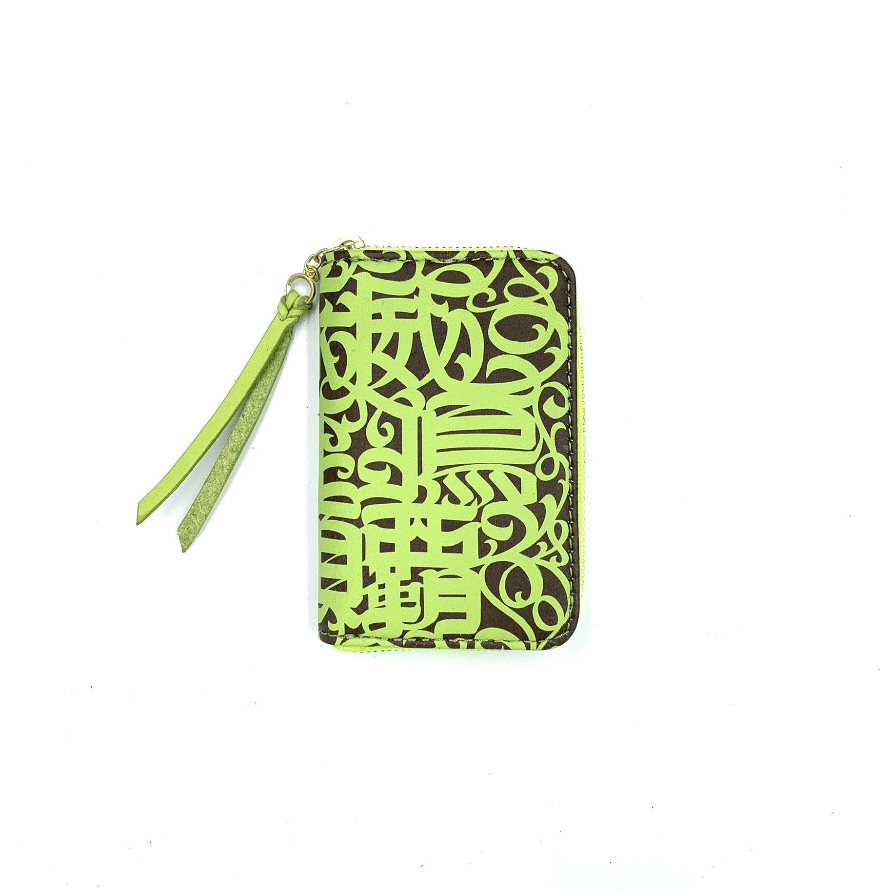 《CASPER× YONZY factory》RZ mini Card Case  ライムグリーン