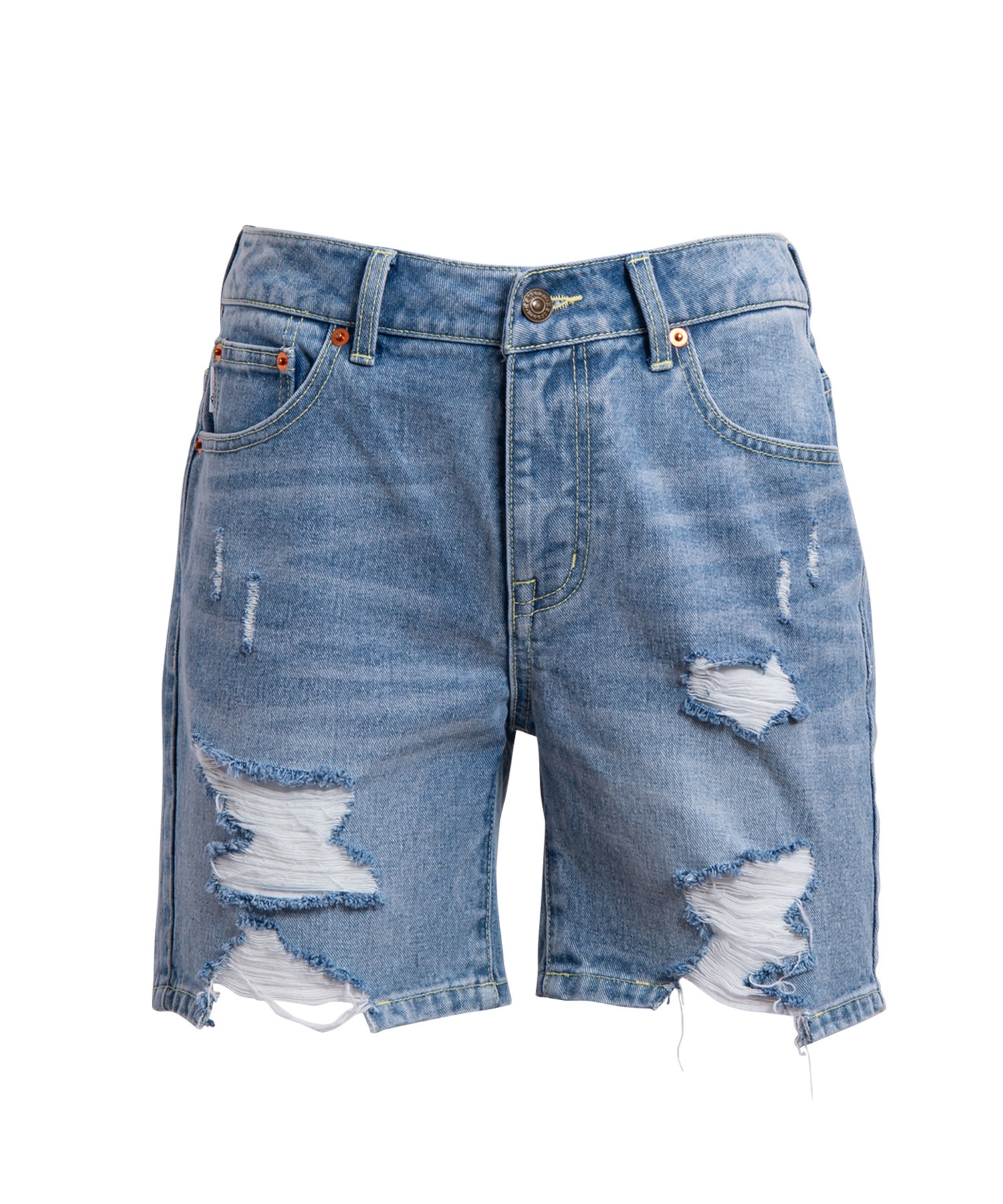 VINTAGE CRASH CUT DENIM SHORTS[REP054]