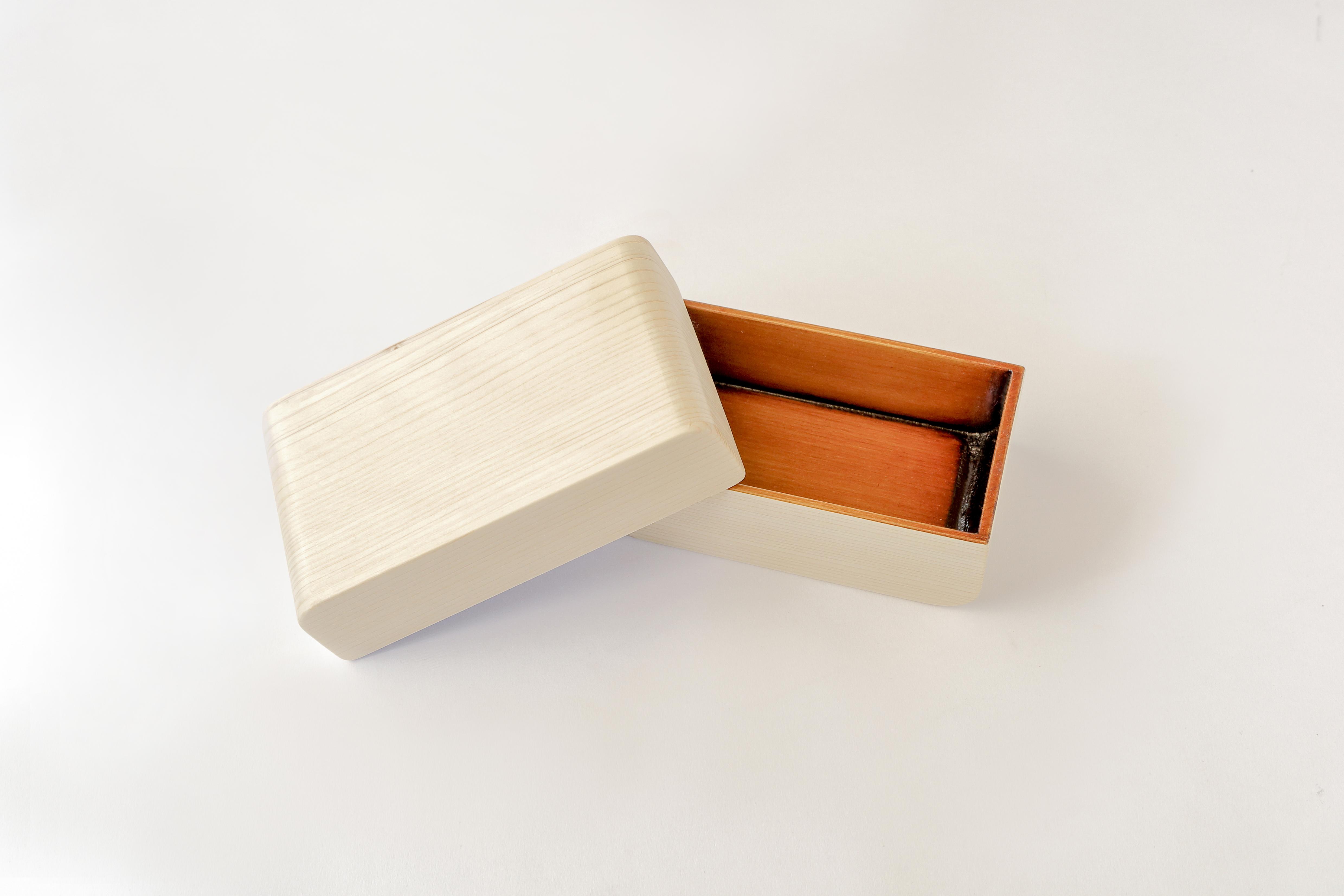 カブセル 弁当箱 ひのき白木仕上げ(大)