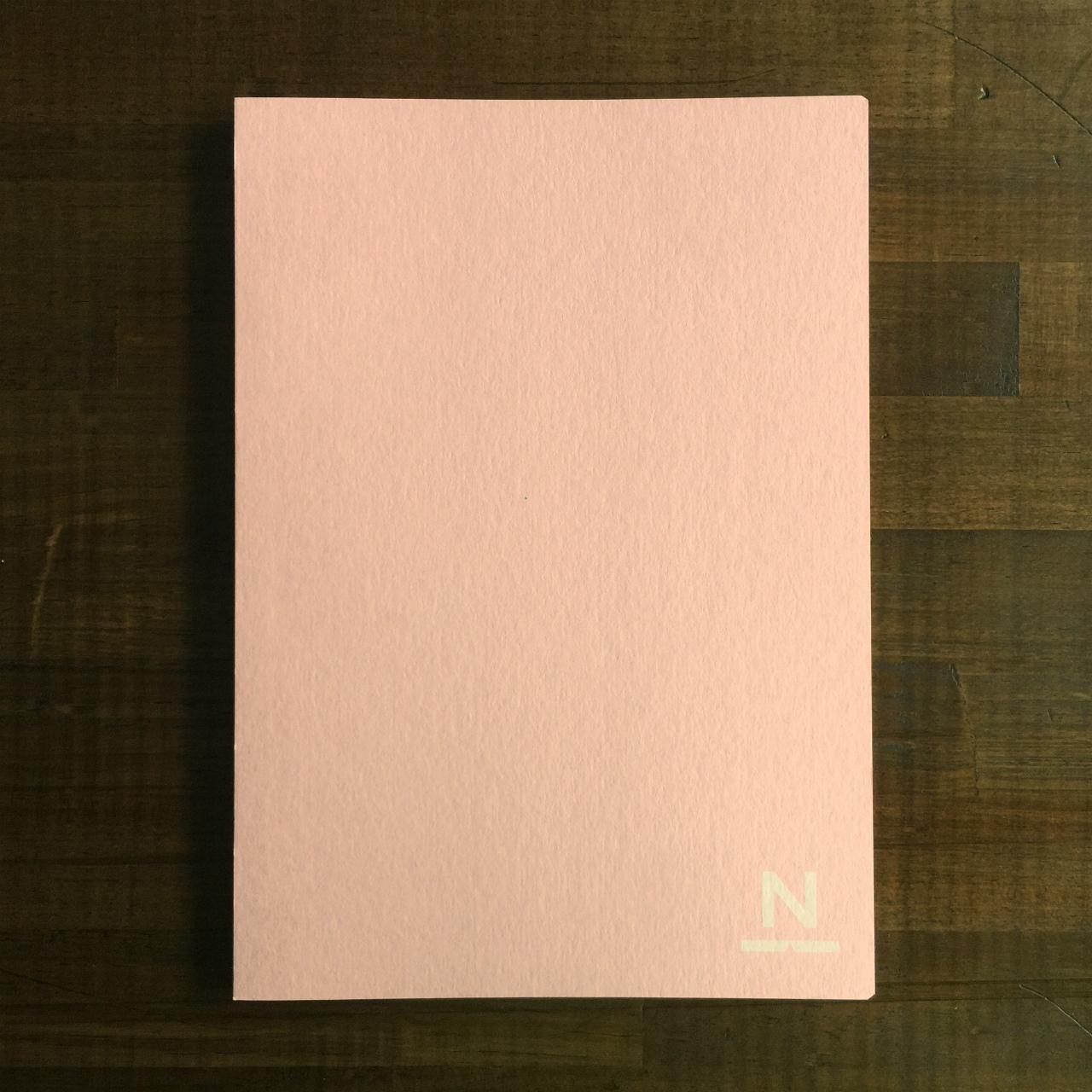 ノンブルノート「N」(05)キャンディピンク×チョコレート(※2020マンスリー付)