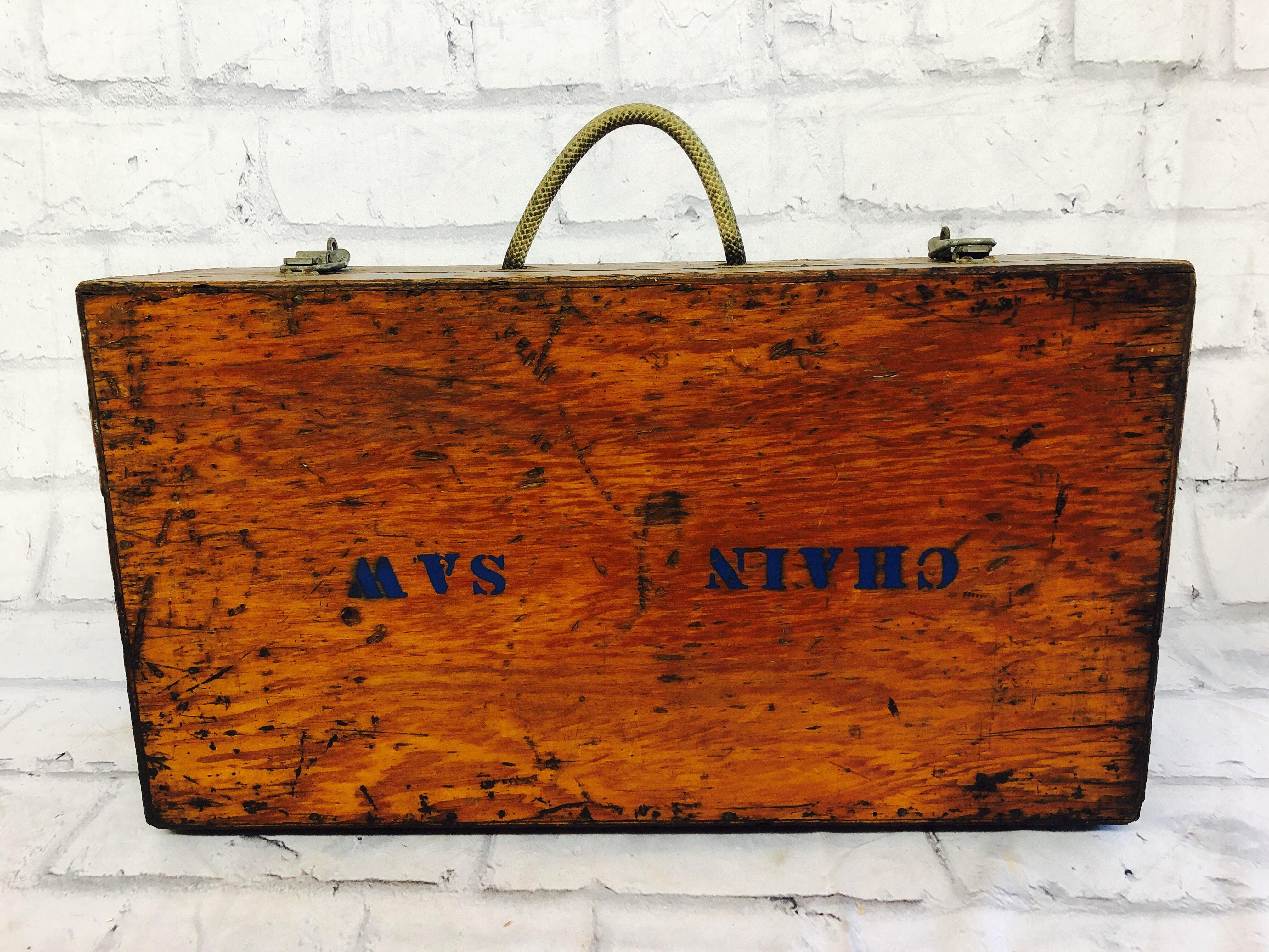 品番1805 ウッドケース 木製 工具箱 ツールボックス スーツケース ヴィンテージ