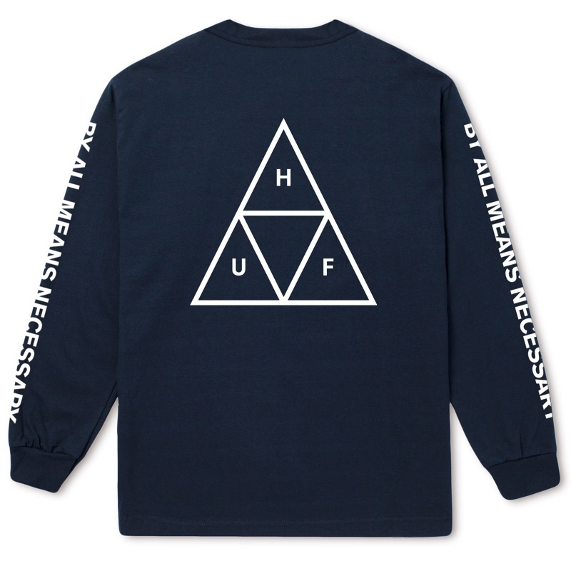 ESSENTIALS TT L/S TEE TWILIGHT BLUE