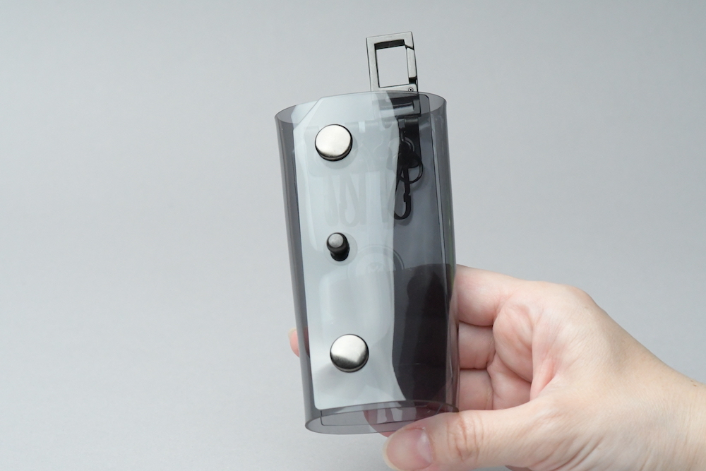 Triple Fold  Key Case  □スモークグレー・ブラック□ - 画像3