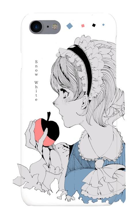 【送料無料】六花デザイナーUMEオリジナル iPhone7 スマホケース【Snow White】