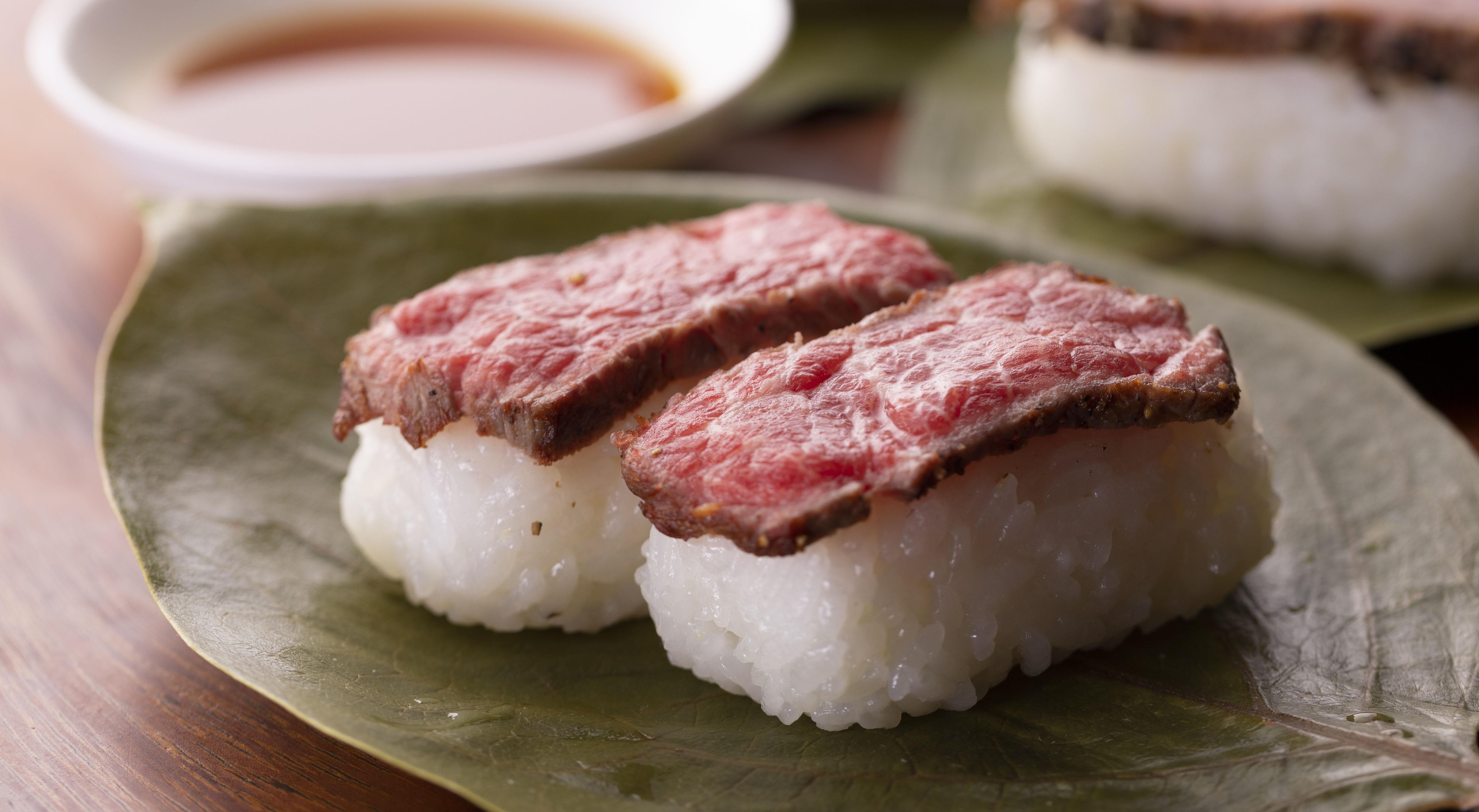 人気 お取り寄せグルメ 美味しい 柿の葉肉寿司(牛のみ7個 入)1箱