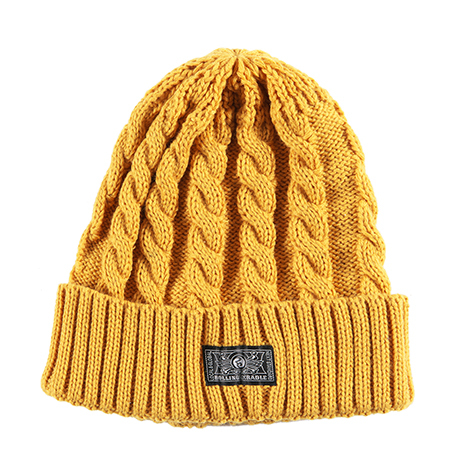 【ROLLING CRADLE | ロリクレ】RC KNIT CAP / Mustard