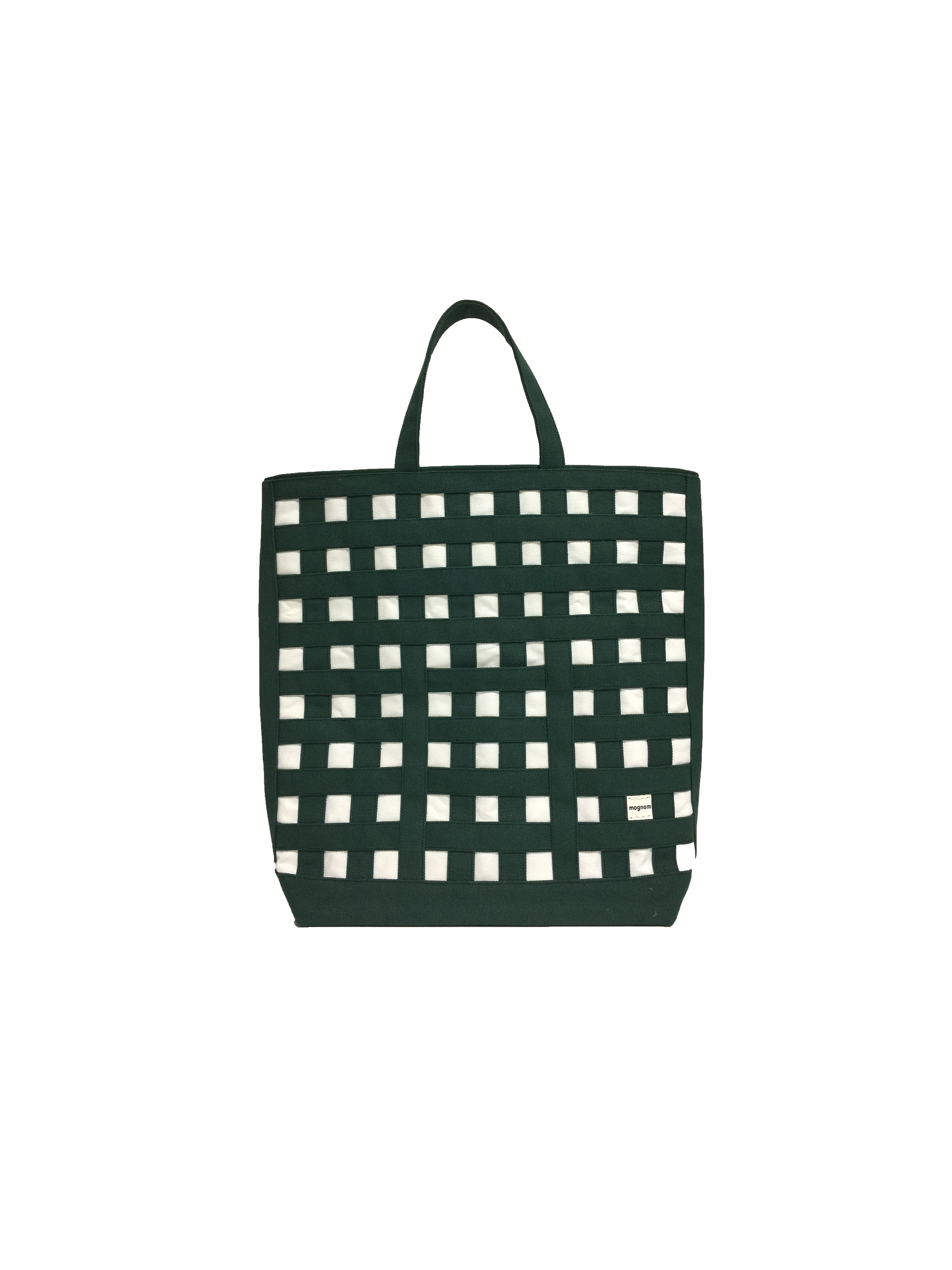 gingham tote ギンガムトート carrés  カレ 20-72  カラー:ダークグリーン