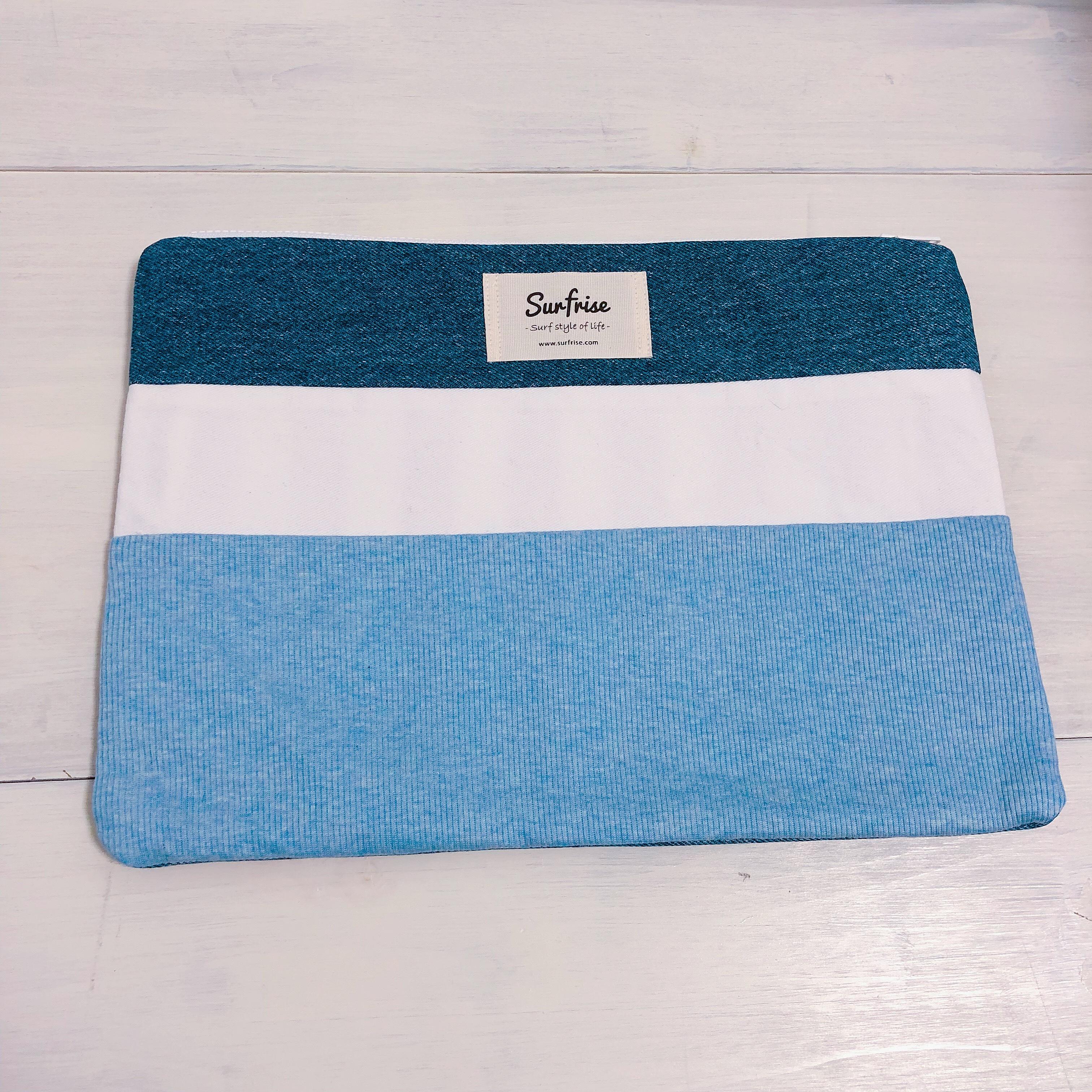 Denim clutch bag R38(Light Blue)