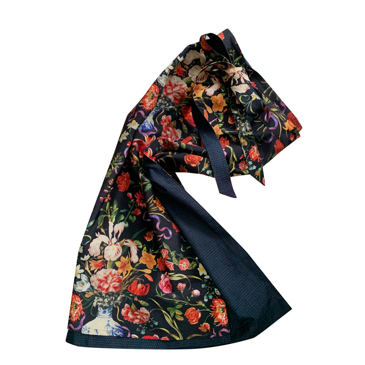 Flower Vase Black - Long Straight
