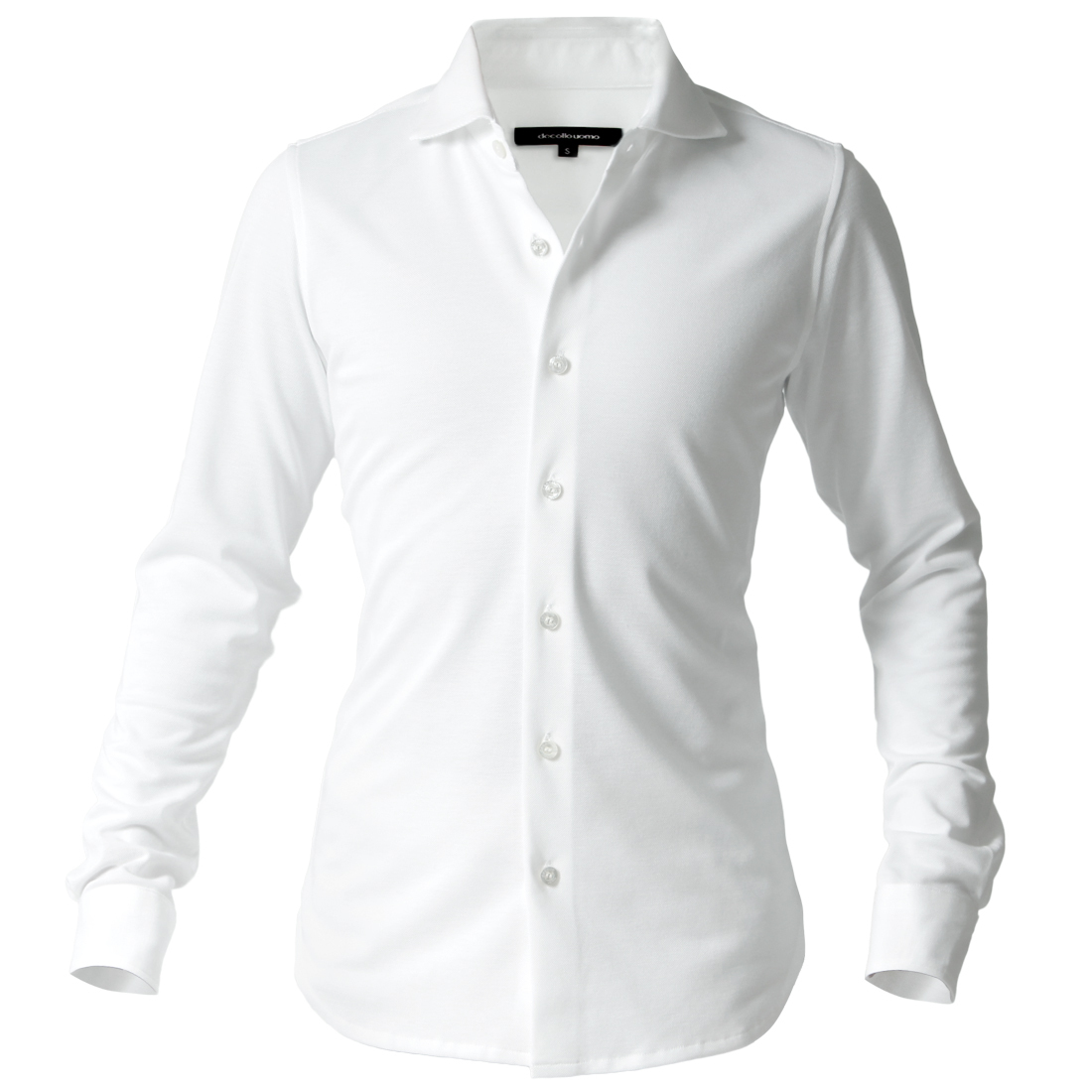DJS-002 decollouomo メンズドレスシャツ 長袖 concorde - ピュアホワイト