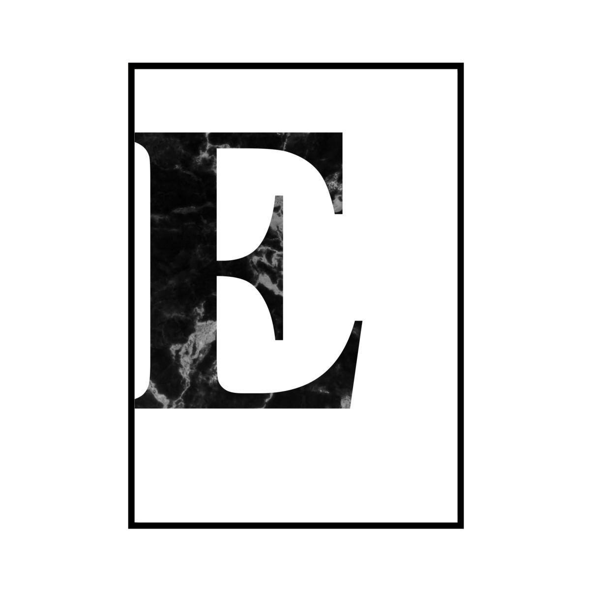 """E"" 黒大理石 - Black marble - ALPHAシリーズ [SD-000506] B4サイズ ポスター単品"