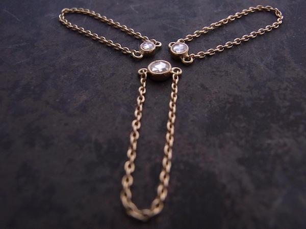 Diamond Gauge / K18×ローズカットダイヤ(Mサイズ)のチェーンリング