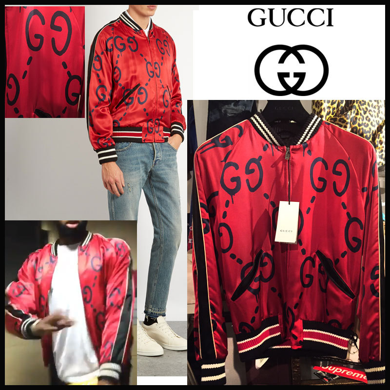 newest 1d837 1a37f 17SS★GUCCI ghost souvenir bomber jacket グッチ ゴースト ボンバージャケット スカジャン   SOHOO  powered by BASE