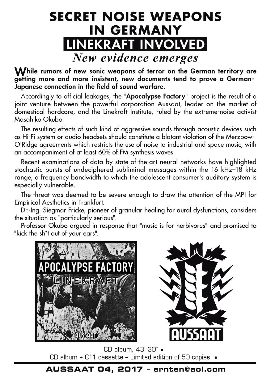 Linekraft - Apocalypse Factory  CD - 画像3