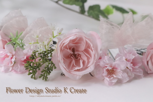 ウェディング・成人式に♡桜と薔薇のヘッドドレス(20本セット)