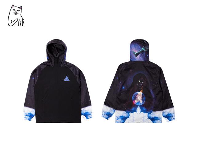 RIPNDIP|Galaxy Gypsy Anorak Jacket (Black)