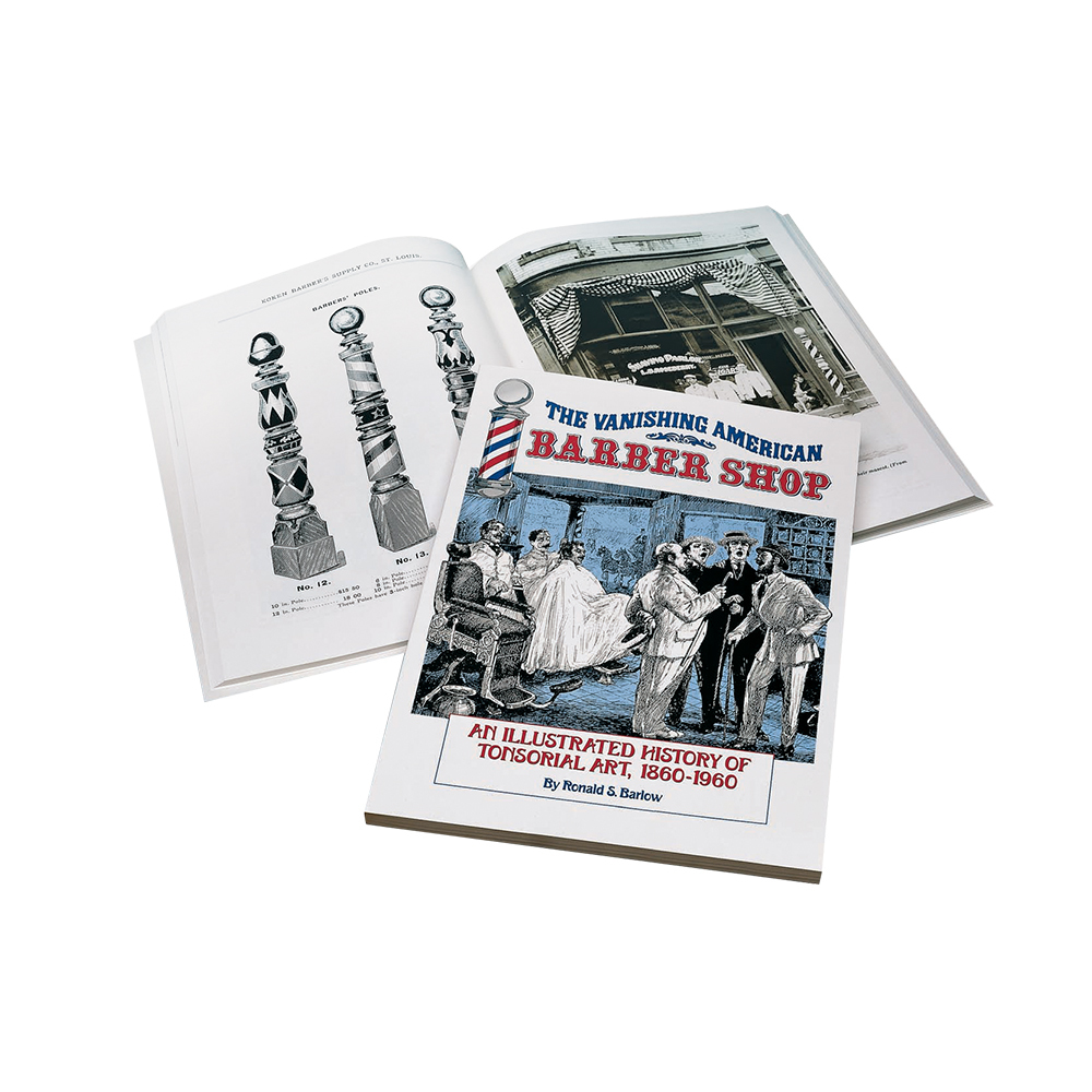 フォトブック白 The Vanishing American Barber Shop Book