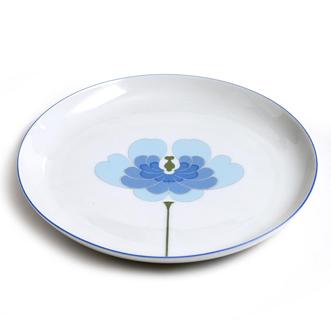 Rosenthal ローゼンタール Rut Bryk ルート ブリュック Century センチュリー 青い蓮の花の皿 ヴィンテージ