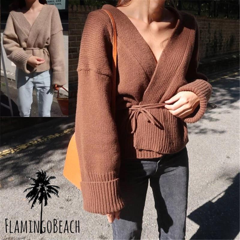 【FlamingoBeach】cross knit ニット