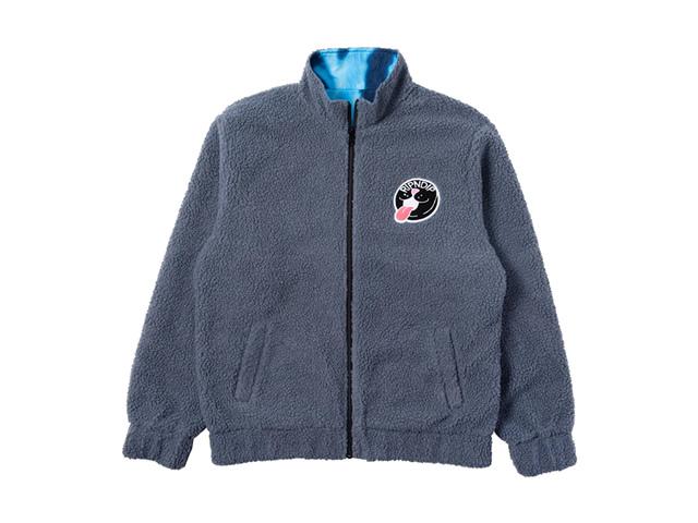 RIPNDIP Pill Reversible Sherpa Varsity Jacket