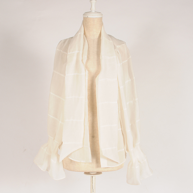 hs19AW-IR05 BOW TIE BLOUSE -WH