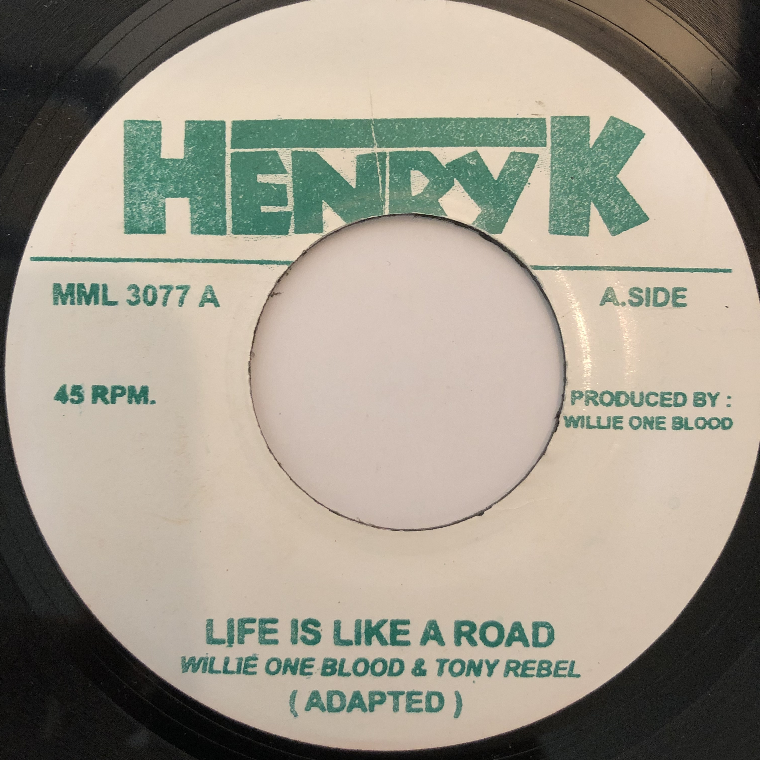 Willie One Blood & Tony Rebel - Life Is Like A Road【7-20255】