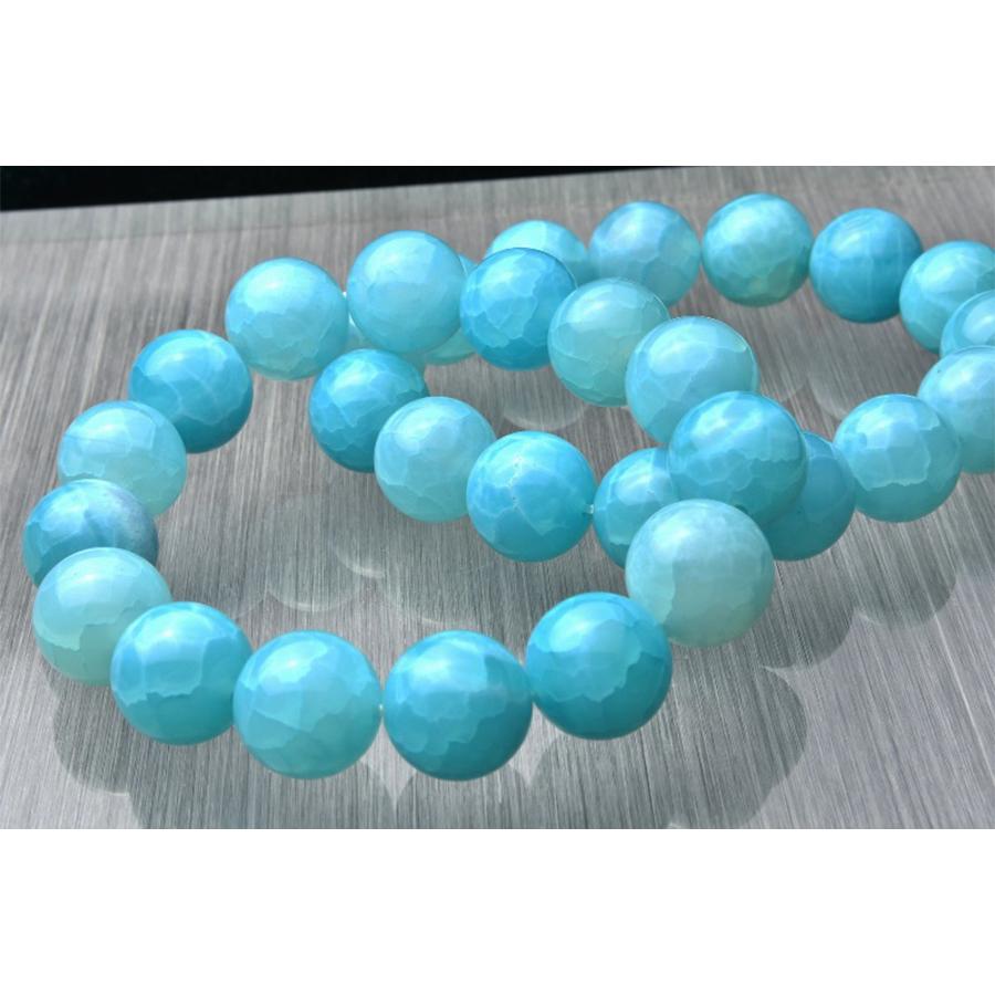 【愛と平和を象徴】★希少天然石 ラリマーブルードラゴンアゲート(12mm)