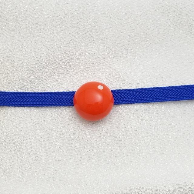 マメコロンカラー コロン帯留めブローチ【オレンジ】